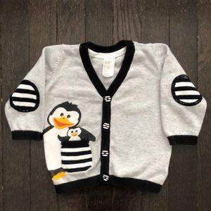 H&M 6-9 Month Penguin Cardigan